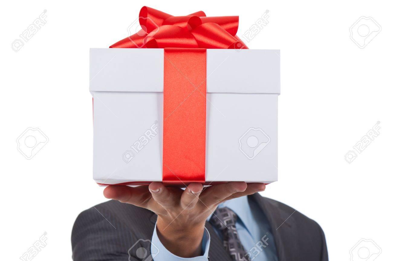 gift box businessman Stock Photo - 10967678