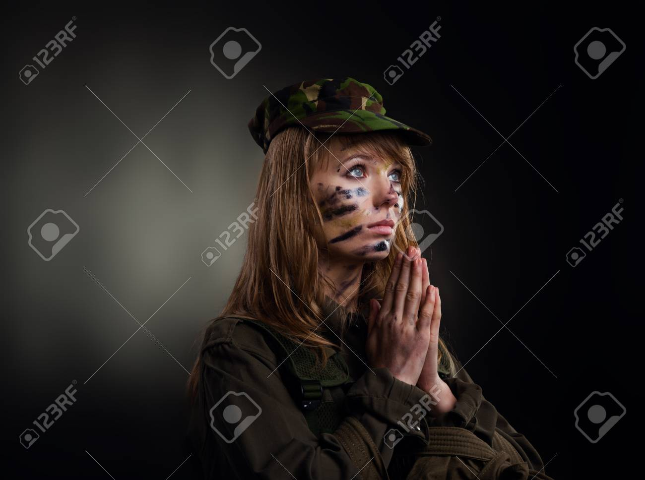 millitary girl Stock Photo - 18810319