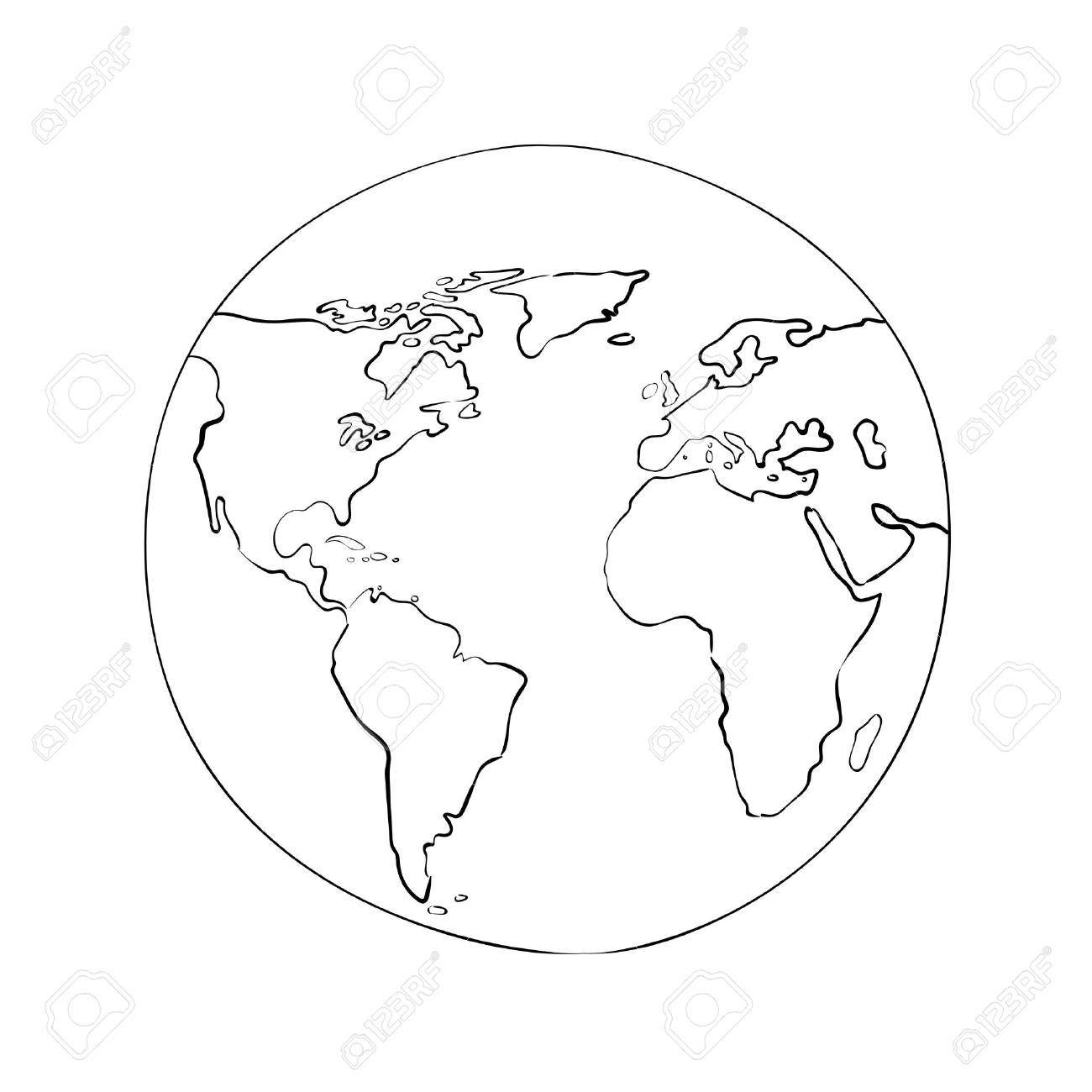 Sketch globe world map black vector illustration royalty free sketch globe world map black vector illustration stock vector 33395879 gumiabroncs Image collections