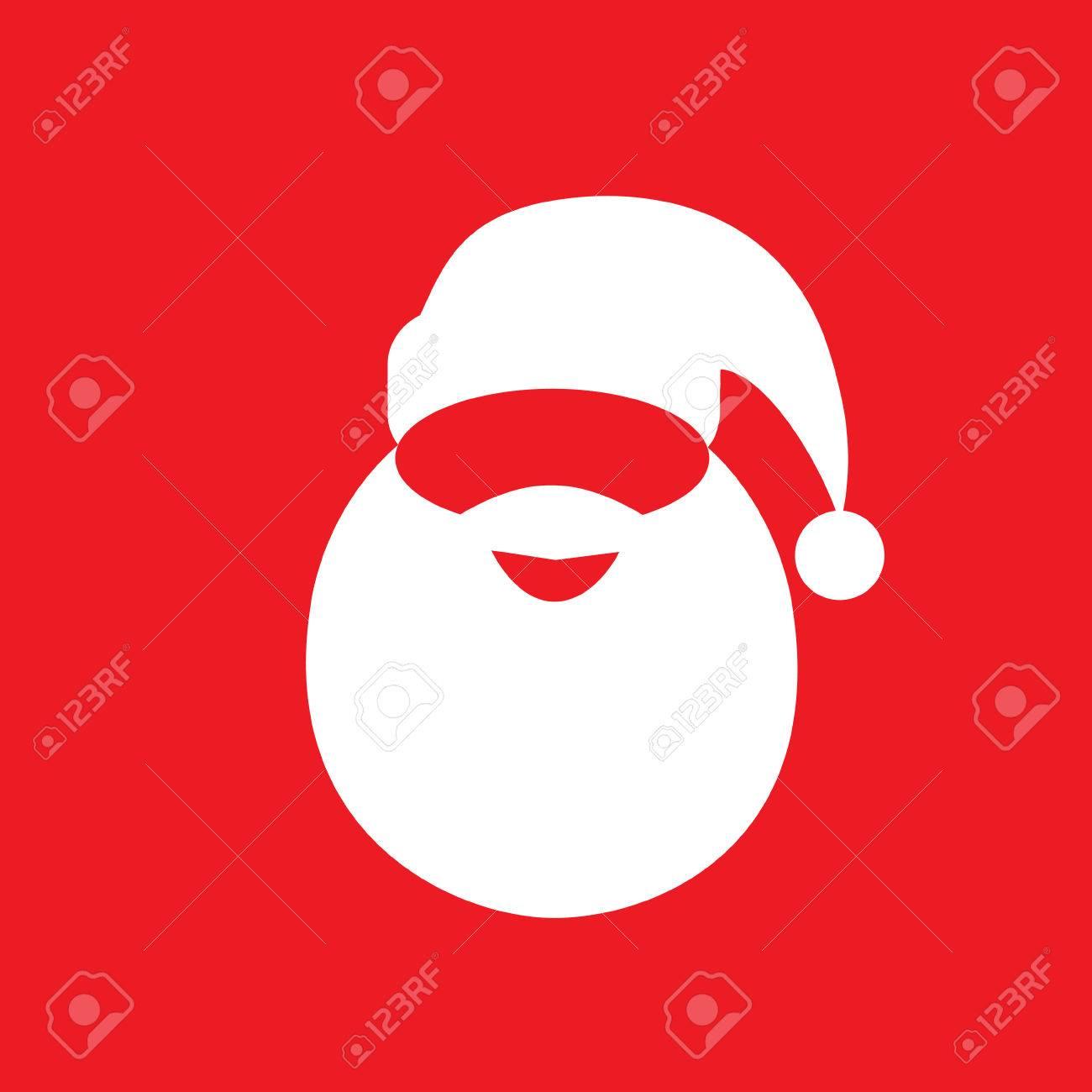 b64088a260b Santa Claus Hat Beard Flat Icon Design Vector Royalty Free Cliparts ...