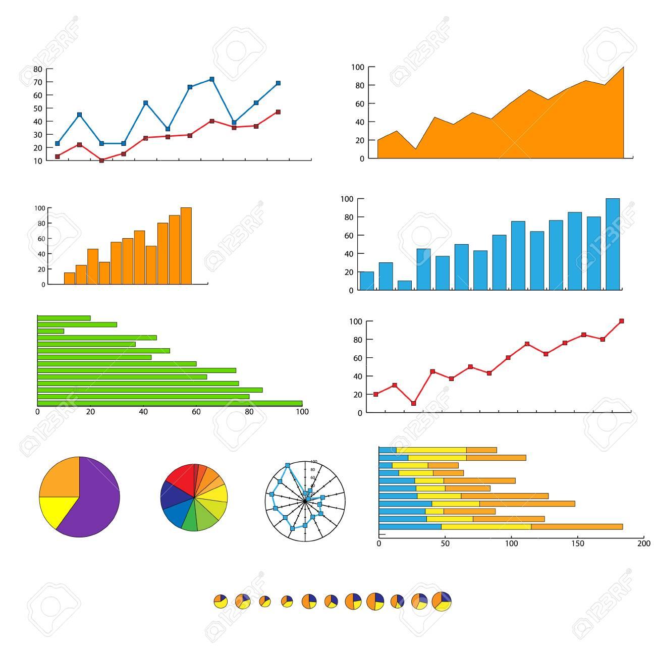 Finance chart graphics diagram set vector royalty free cliparts finance chart graphics diagram set vector stock vector 36777622 ccuart Gallery