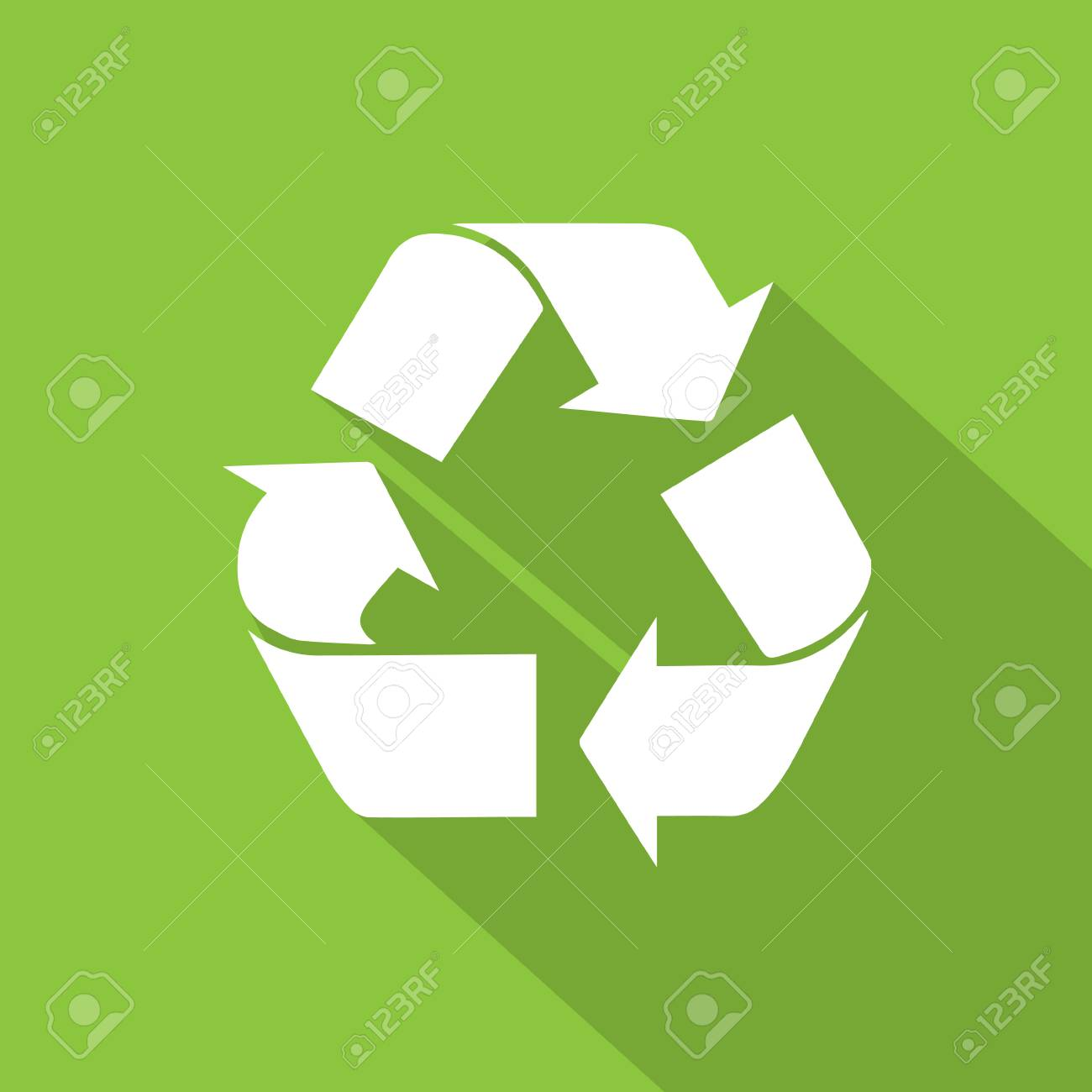 Recycle symbol icon flat icon with shadow white on green background recycle symbol icon flat icon with shadow white on green background stock vector 36778517 buycottarizona Choice Image