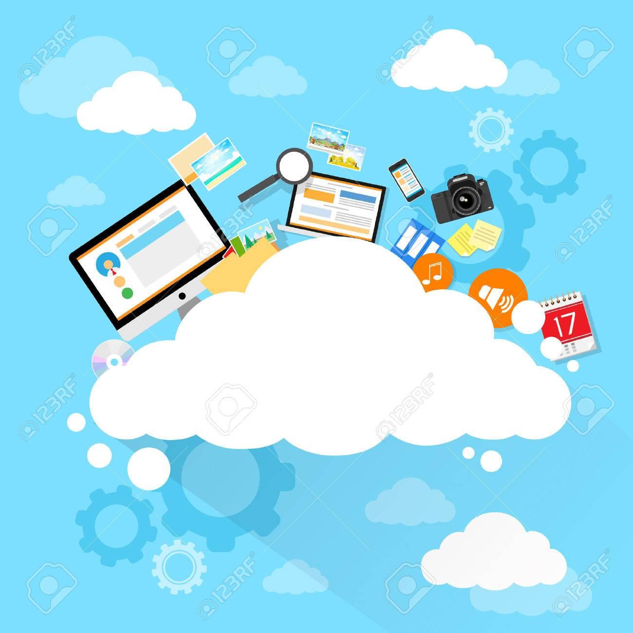 Cloud computing technology device set internet data information storage - 37887421