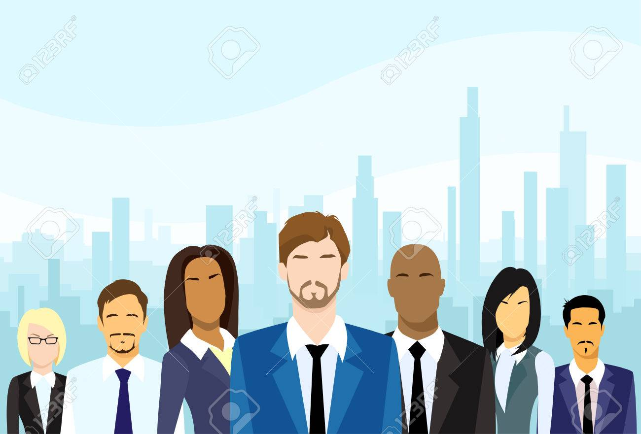 Business People Group Diverse Team Vector - 38543518