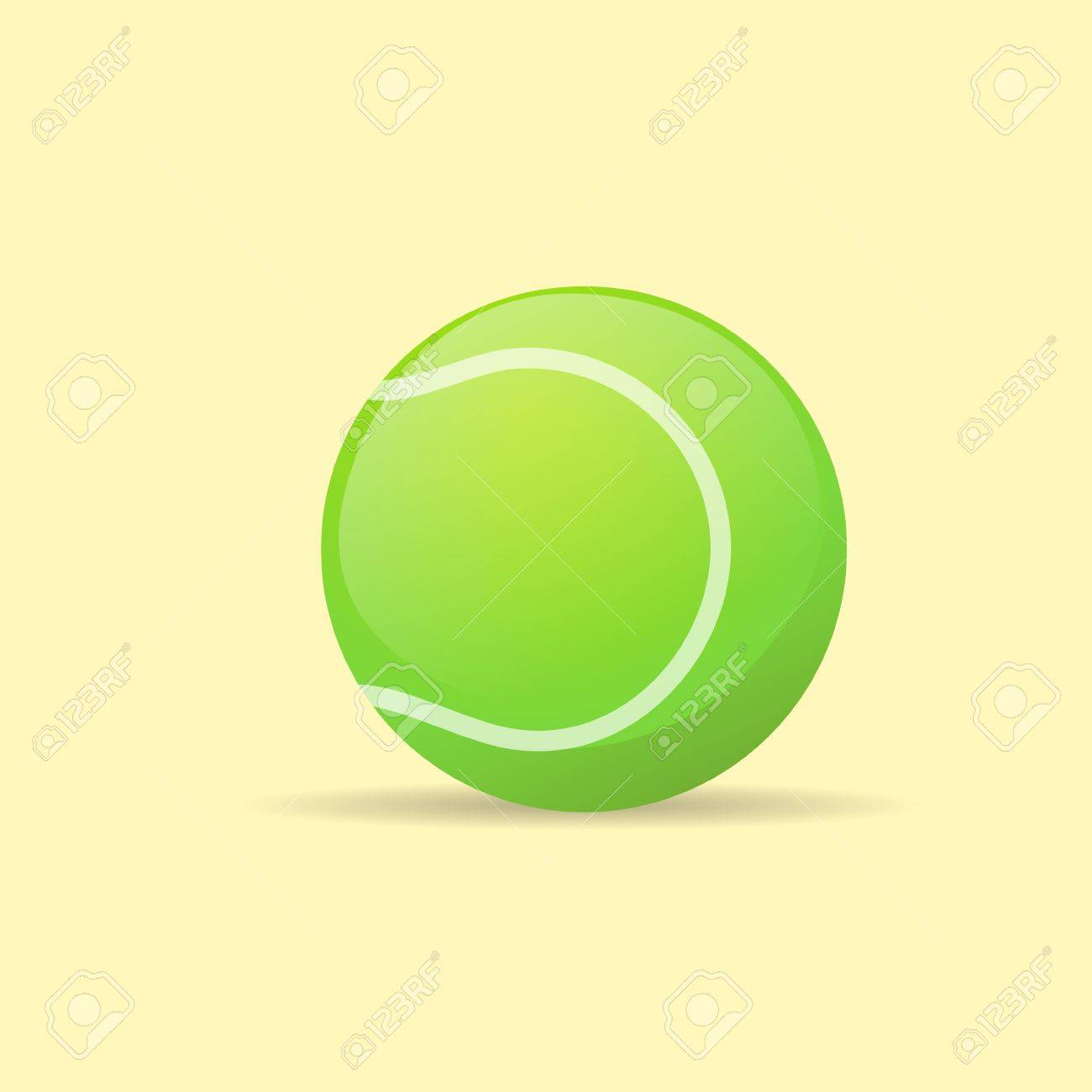 Tennis Ball Color Flat Icon Vector Royalty Free Cliparts Vectors