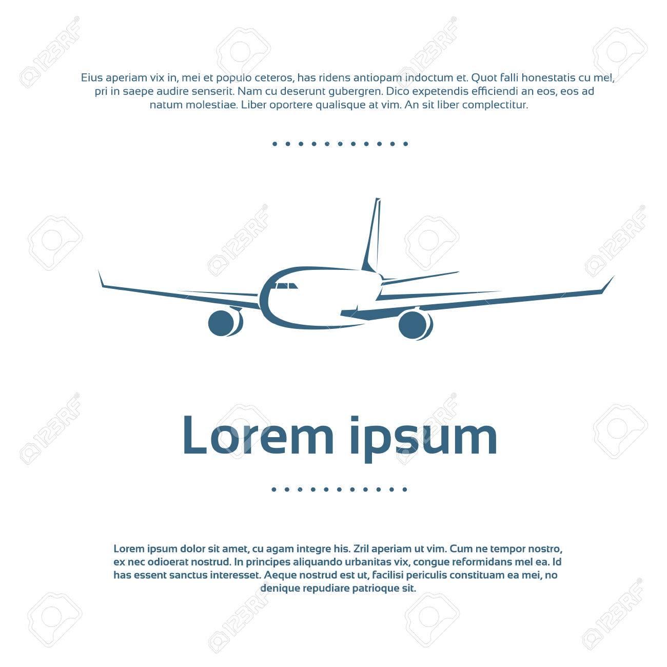 Aviones Avión Logo Icono Del Vector Del Color Ilustraciones ...