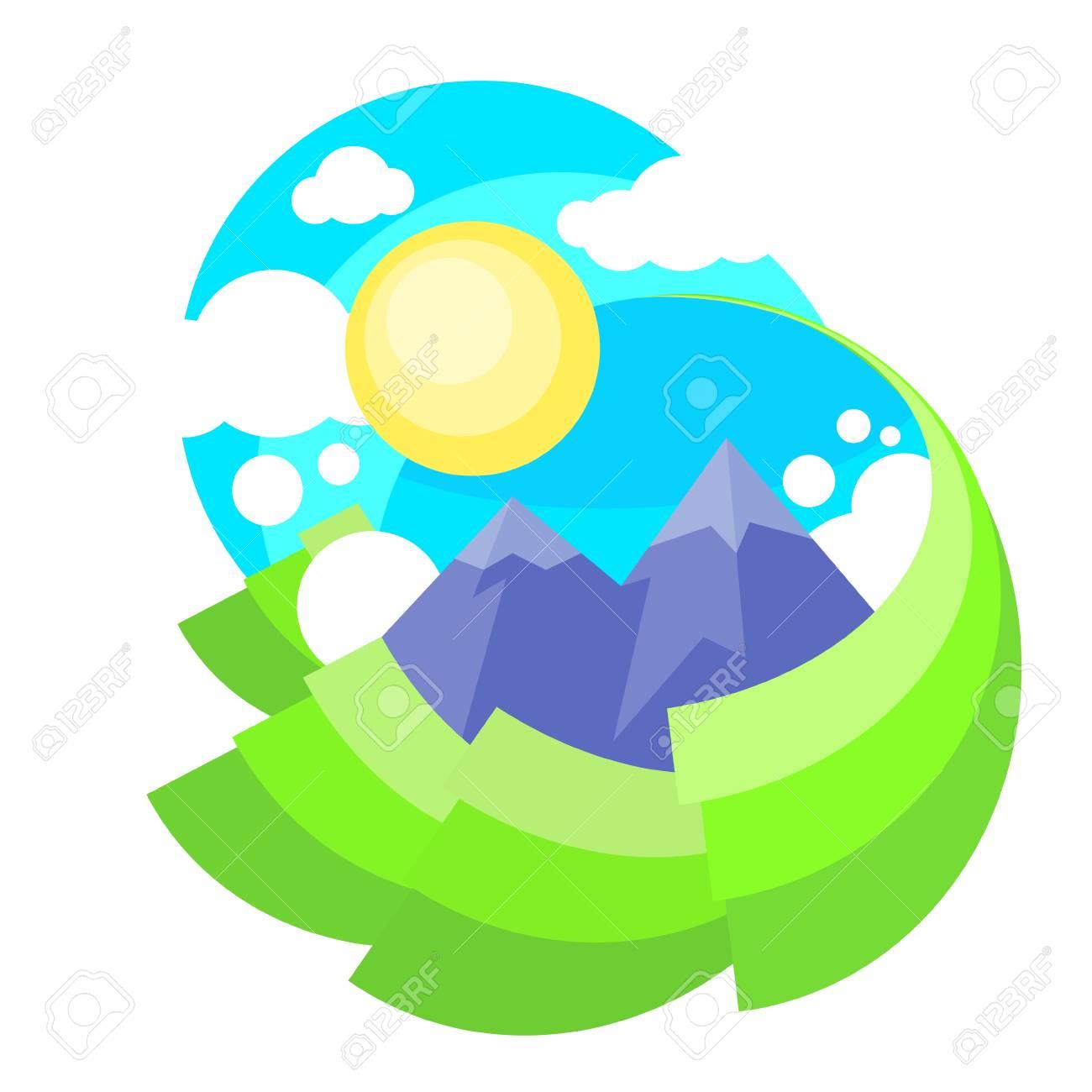 mountain green grass with sun landscape royalty free cliparts rh 123rf com Grass SVG Grass SVG