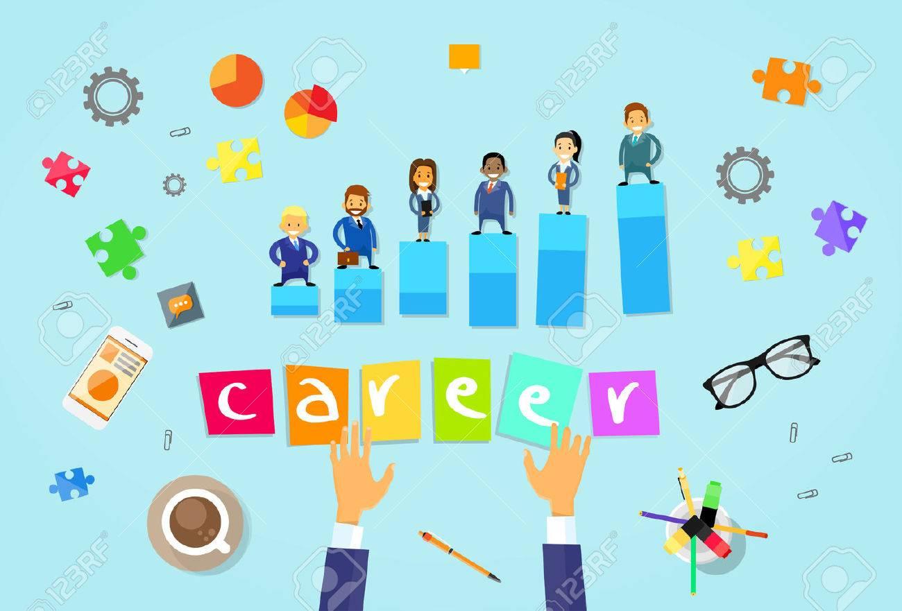 Grupo De Empresarios Persona Carrera Concepto De Dibujos Animados