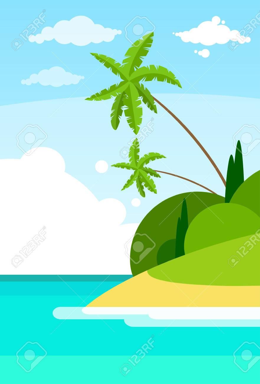 熱帯ビーチ島パーム ツリー海夏...