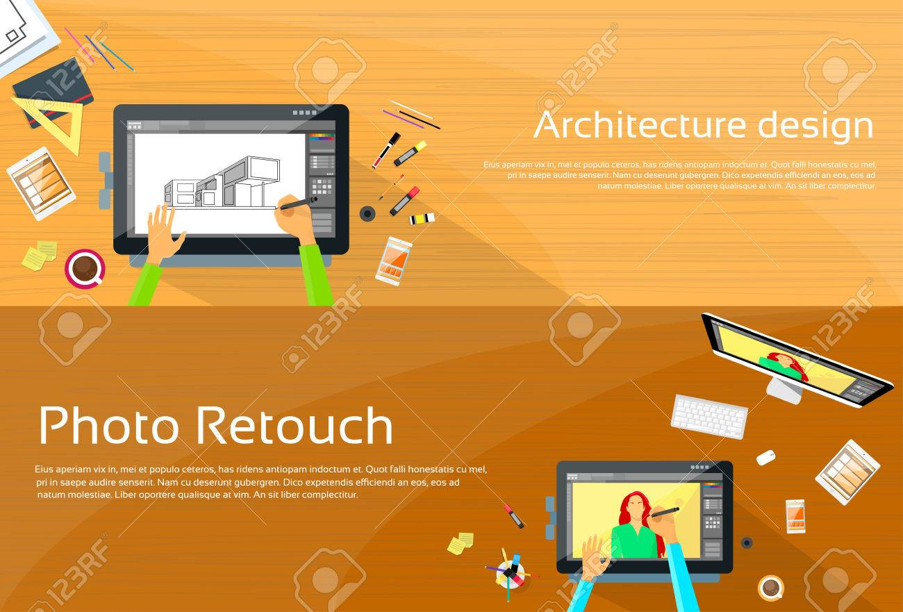 Bureau Big Architecture : Architecture workplace designer bureau big numérique tablet dessin