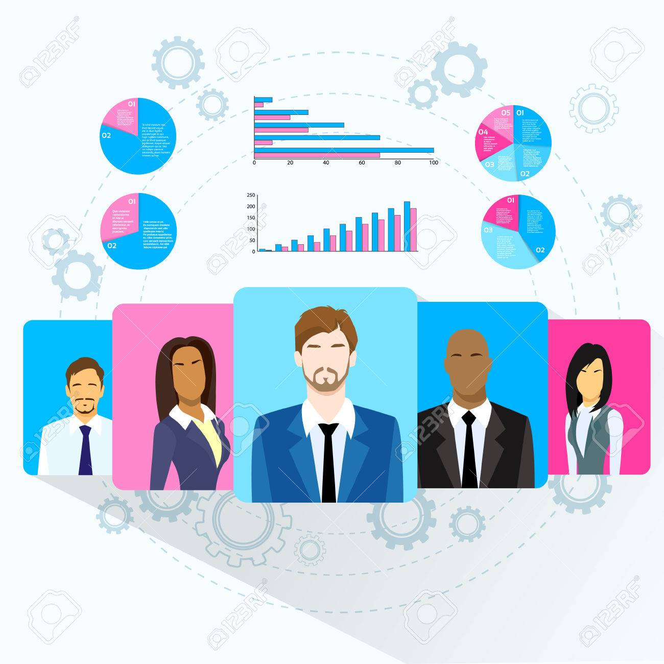 Business people team profile icon finance chart diagram social business people team profile icon finance chart diagram social media marketing target group audience information flat ccuart Image collections