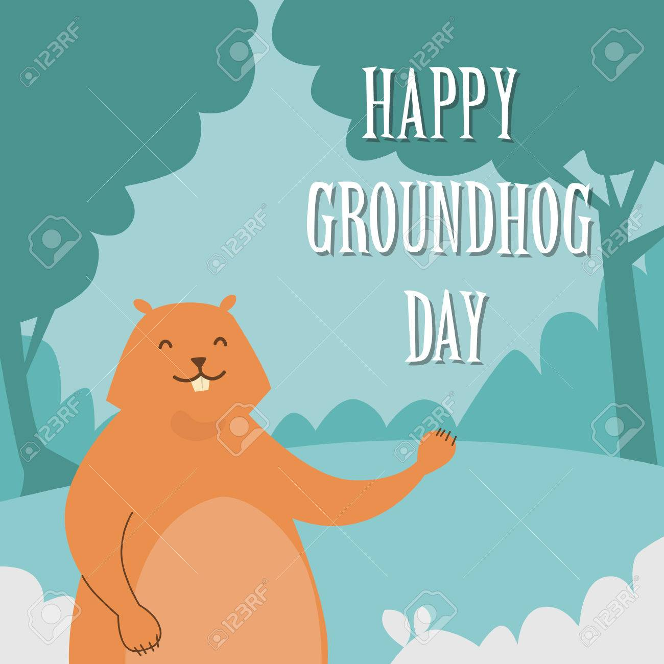 groundhog day clipart.html