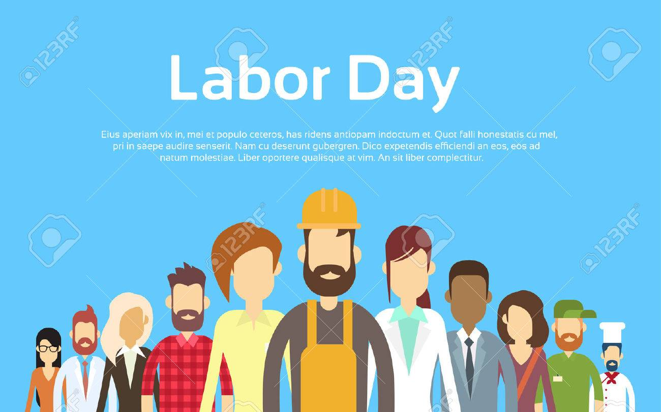 People Group Different Occupation Set, International Labor Day Flat Vector Illustration - 54398369
