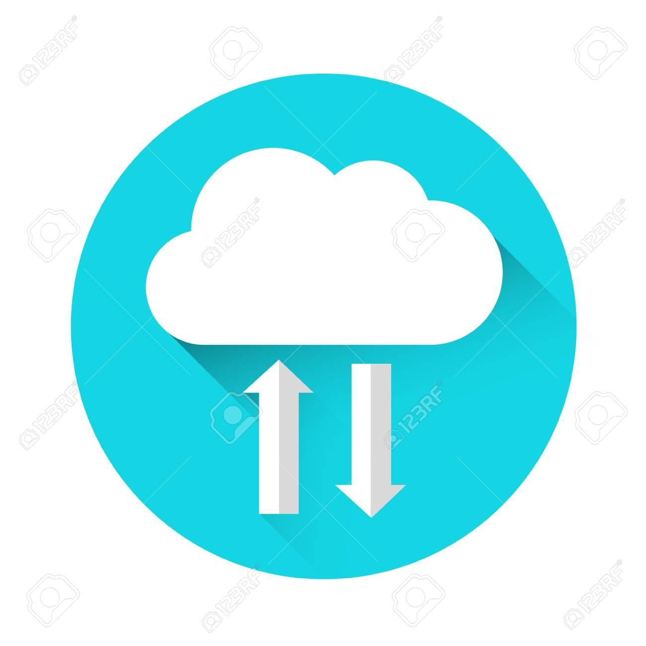 cloud technology online internet data information storage icon rh 123rf com cloud vectors illustrator cloud vectors free download