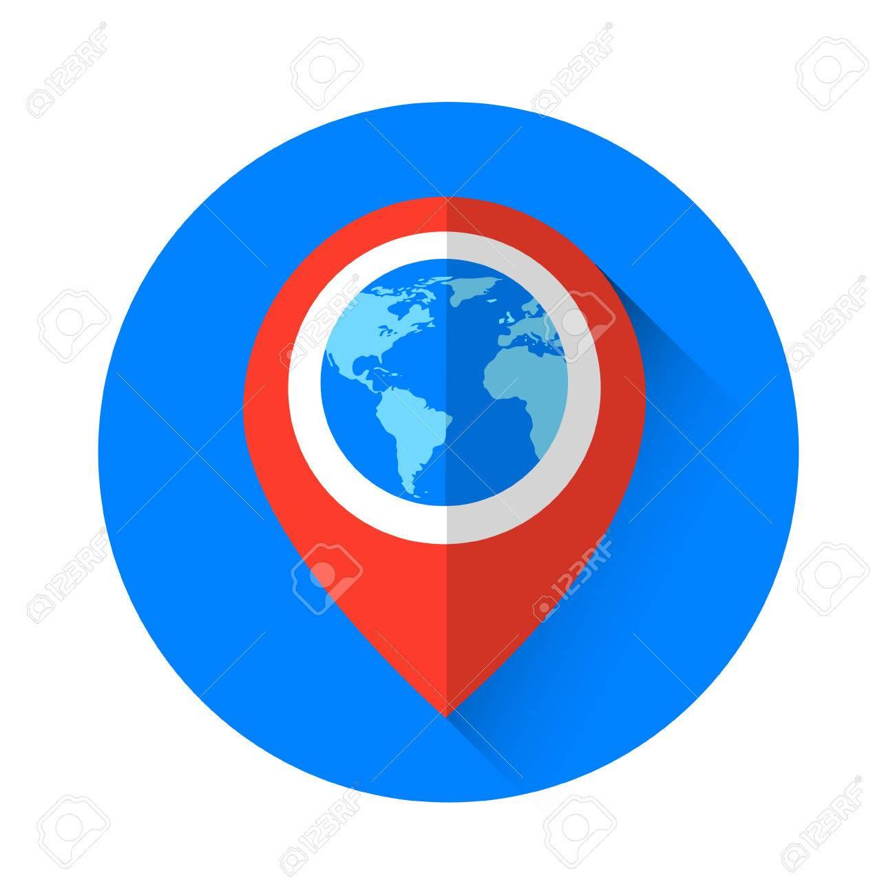 Globe navigation marker world map icon flat vector illustration globe navigation marker world map icon flat vector illustration stock vector 59813650 gumiabroncs Choice Image