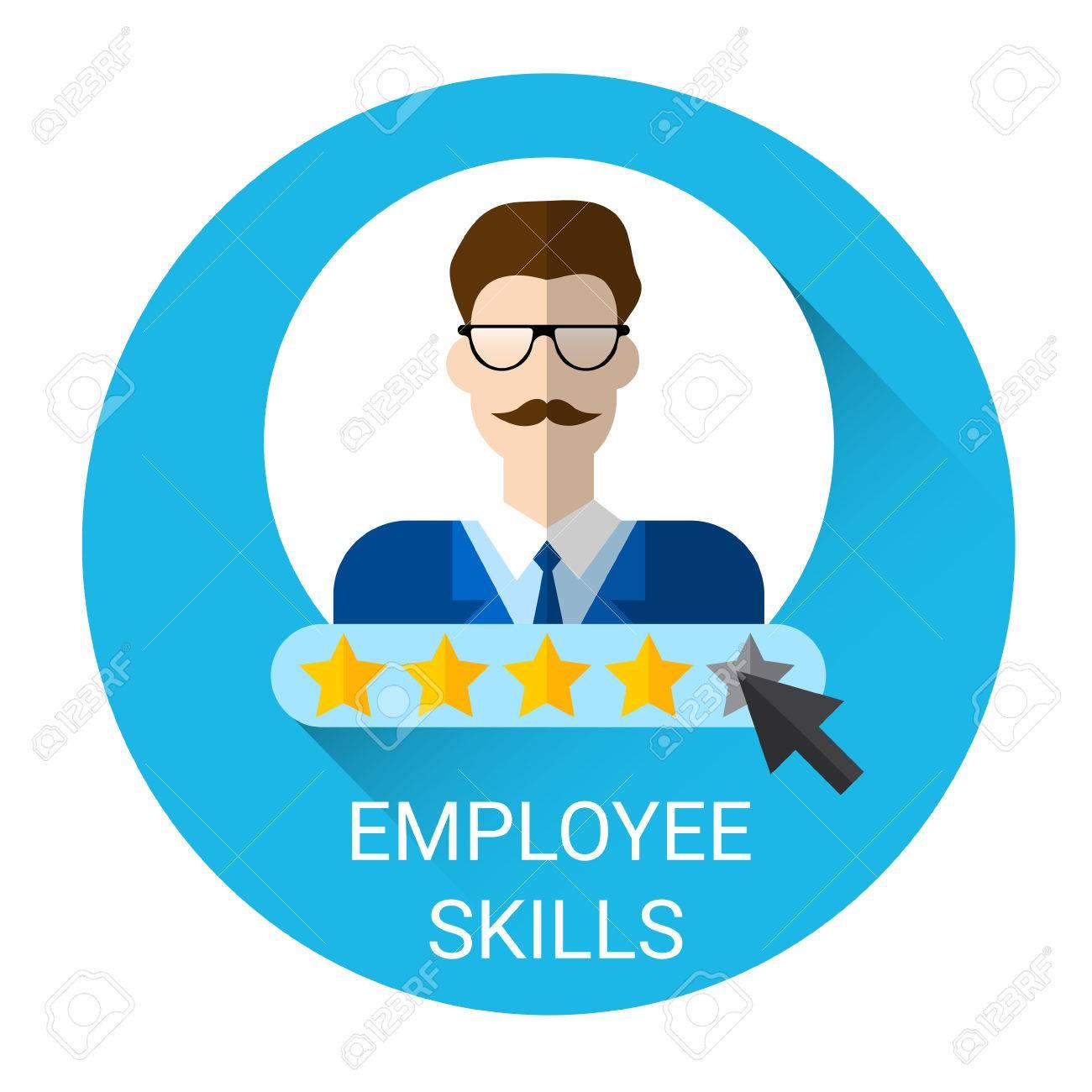 business employee skills evaluation icon flat vector illustration business employee skills evaluation icon flat vector illustration stock vector 61784811