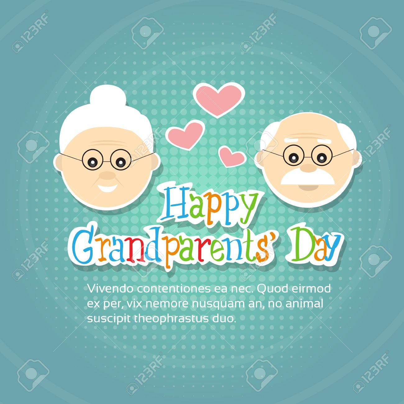 Grandfather with grandmother happy grandparents day greeting grandfather with grandmother happy grandparents day greeting card banner flat vector illustration stock vector 62051914 m4hsunfo