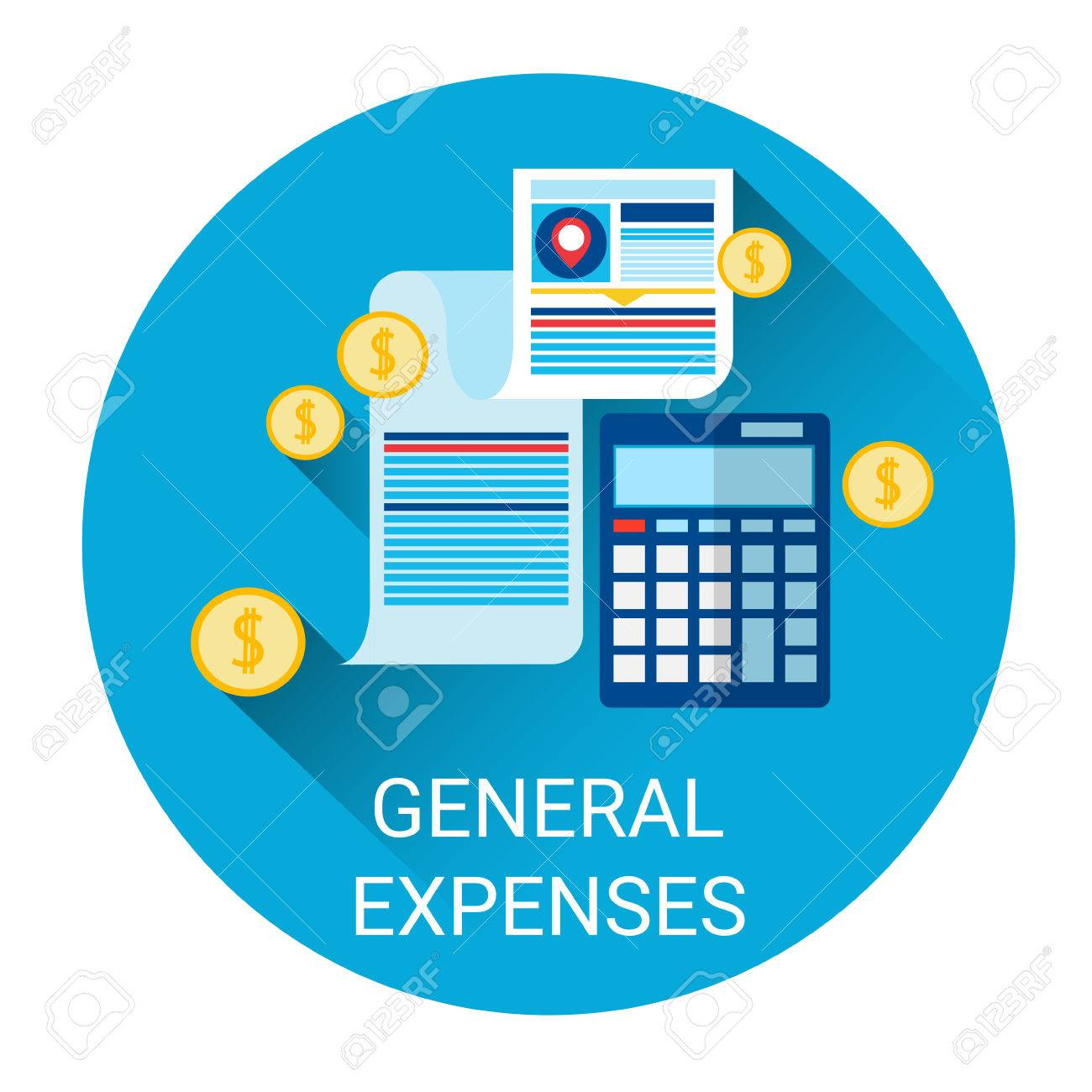 general expenses budget planning business icon flat vector