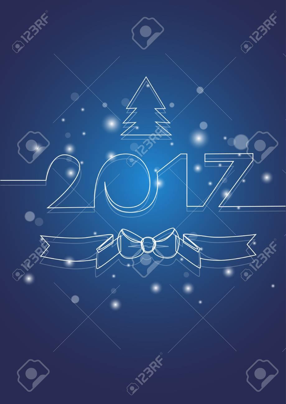 happy new year decoration celebration banner flat vector illustration stock vector 64385886