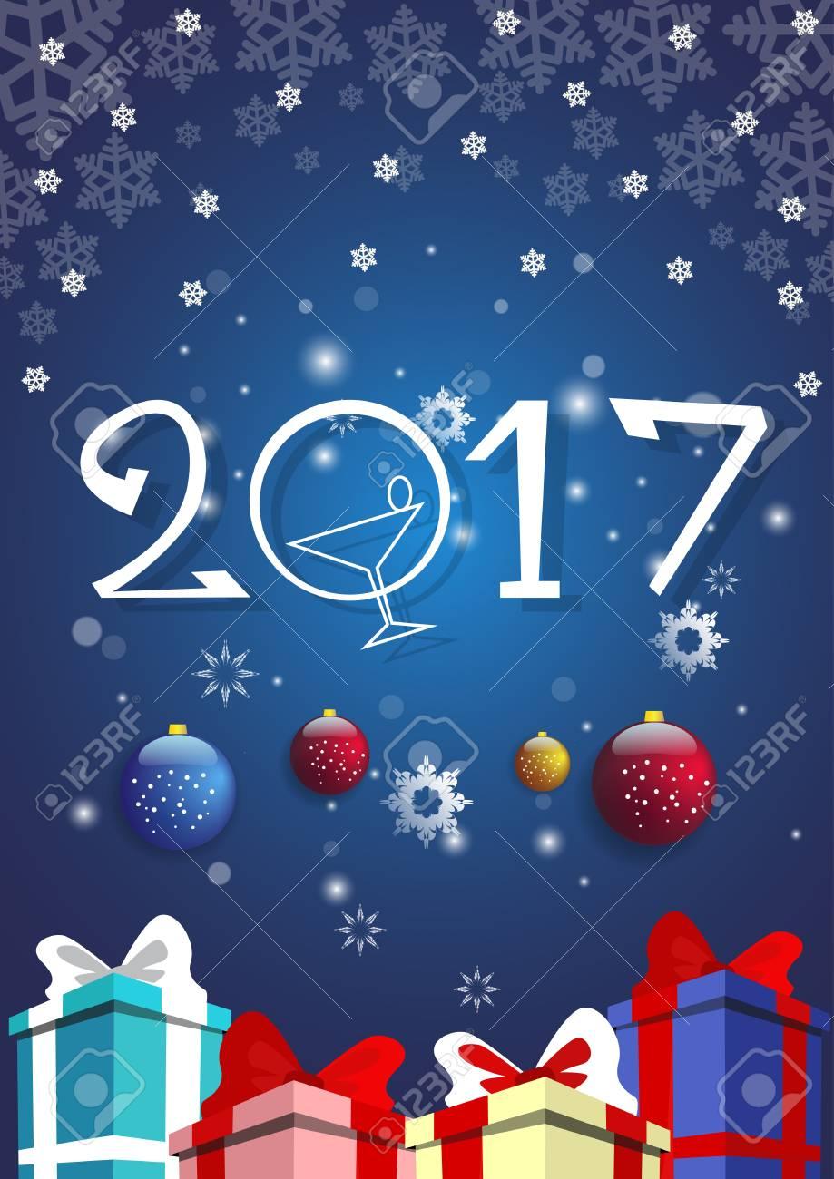 happy new year decoration celebration banner flat vector illustration stock vector 64385898