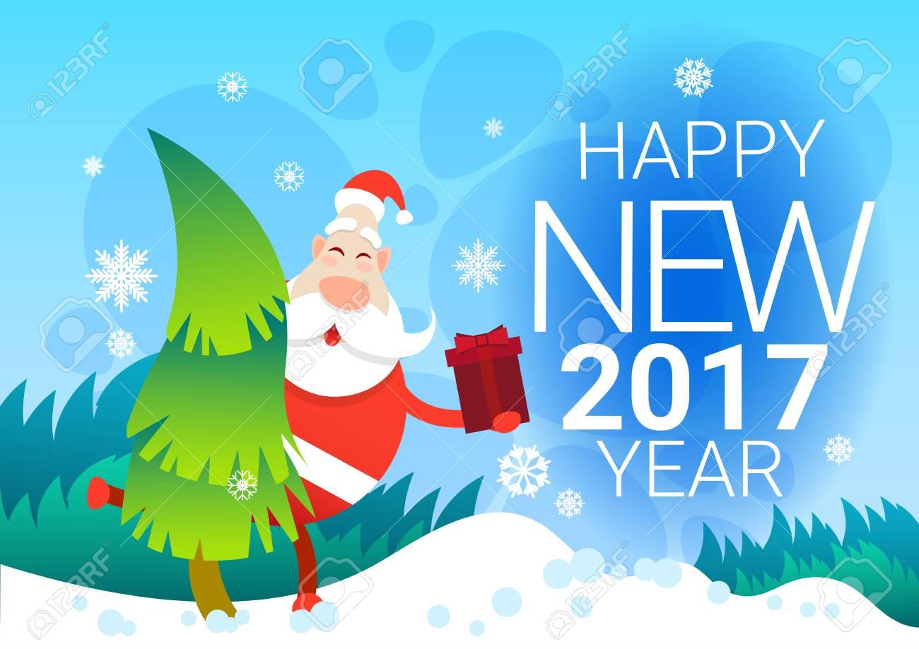 サンタ クロースのプレゼント ボックス クリスマス冬休み松雪新年