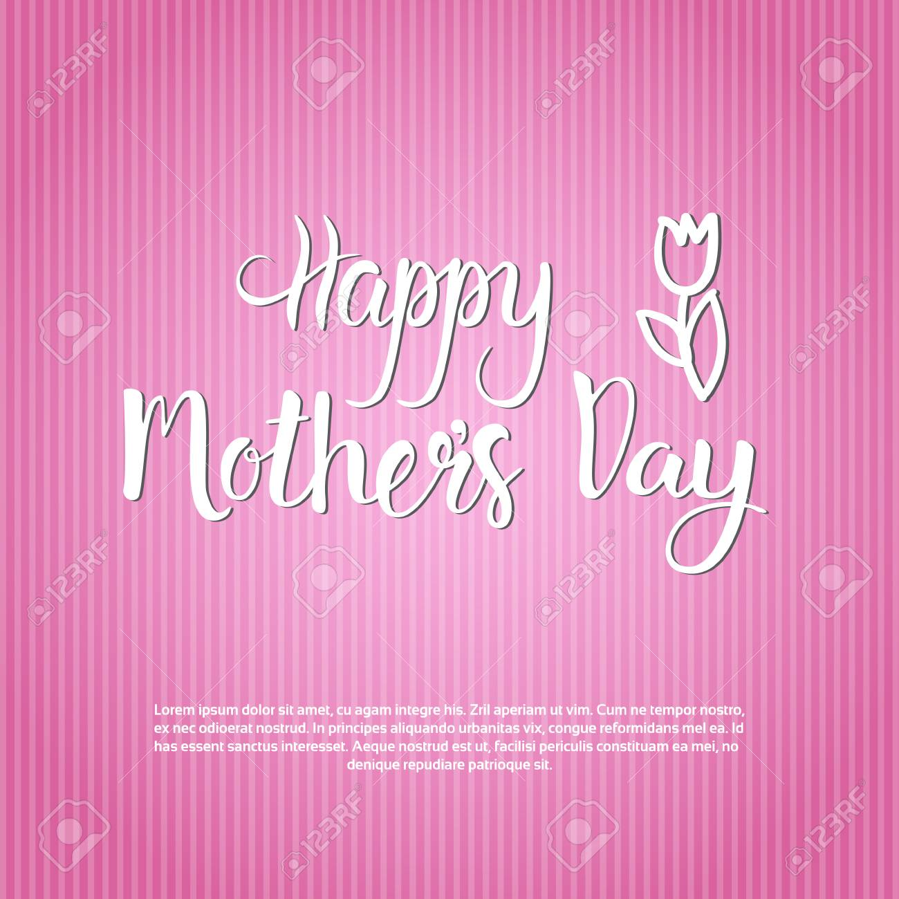 Happy mother day spring holiday greeting card banner flat vector happy mother day spring holiday greeting card banner flat vector illustration stock vector 76546263 m4hsunfo
