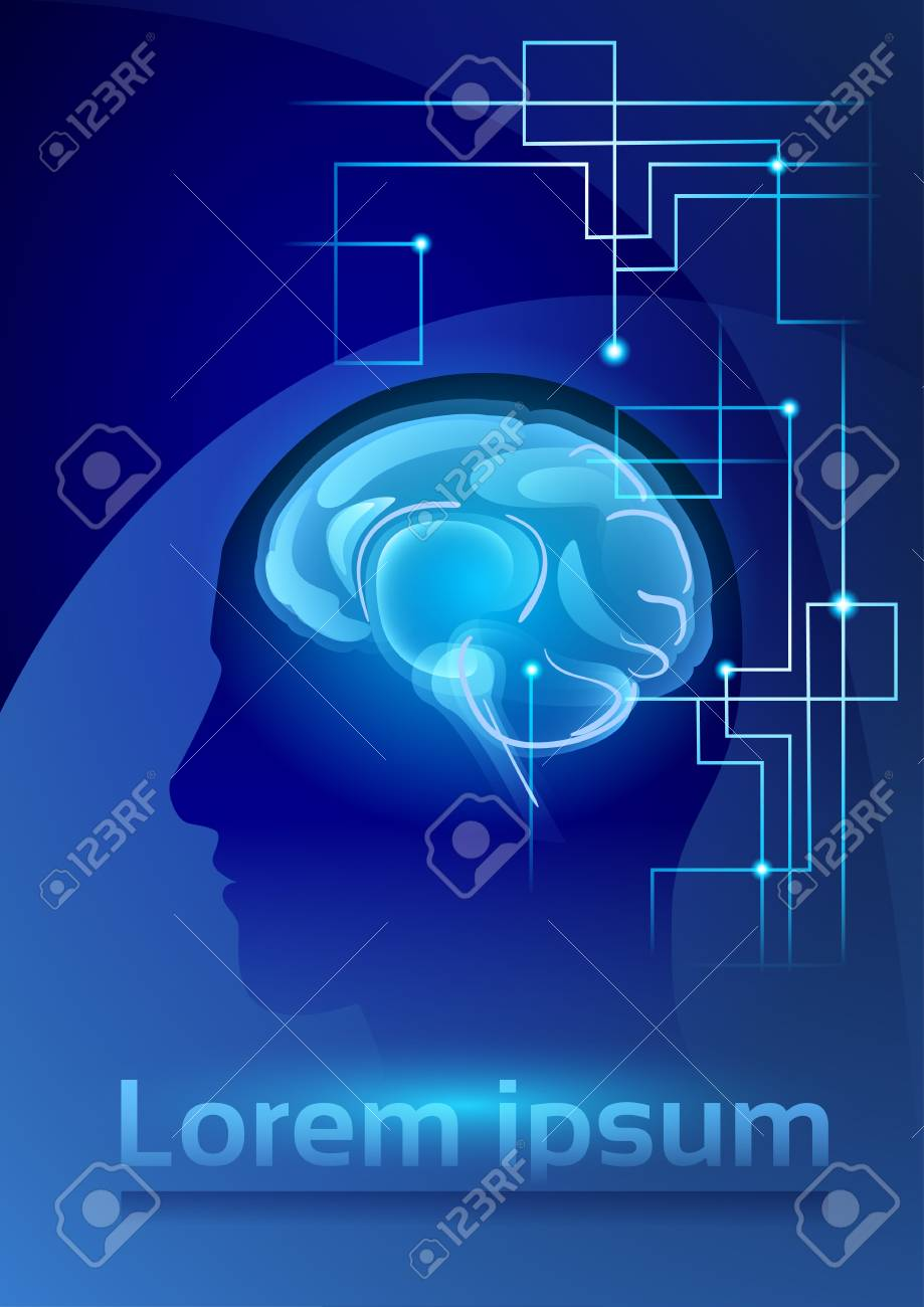 Brain neurons activity medicine thinking intelligence concept brain neurons activity medicine thinking intelligence concept banner with copy space flat vector illustration stock ccuart Image collections