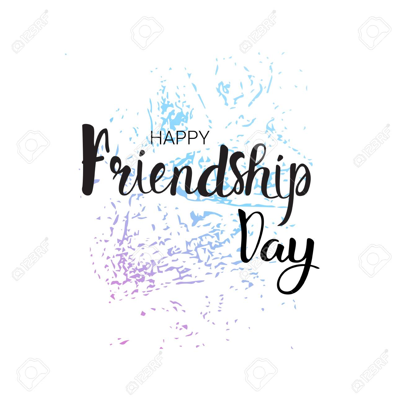 Happy friendship day greeting card friends holiday banner flat happy friendship day greeting card friends holiday banner flat vector illustration stock vector 81922736 m4hsunfo