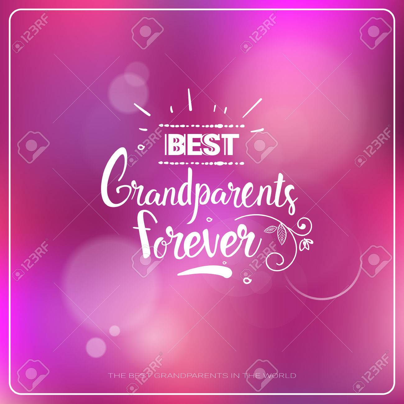 Happy Grandparents Day Greeting Card Colorful Banner With Text