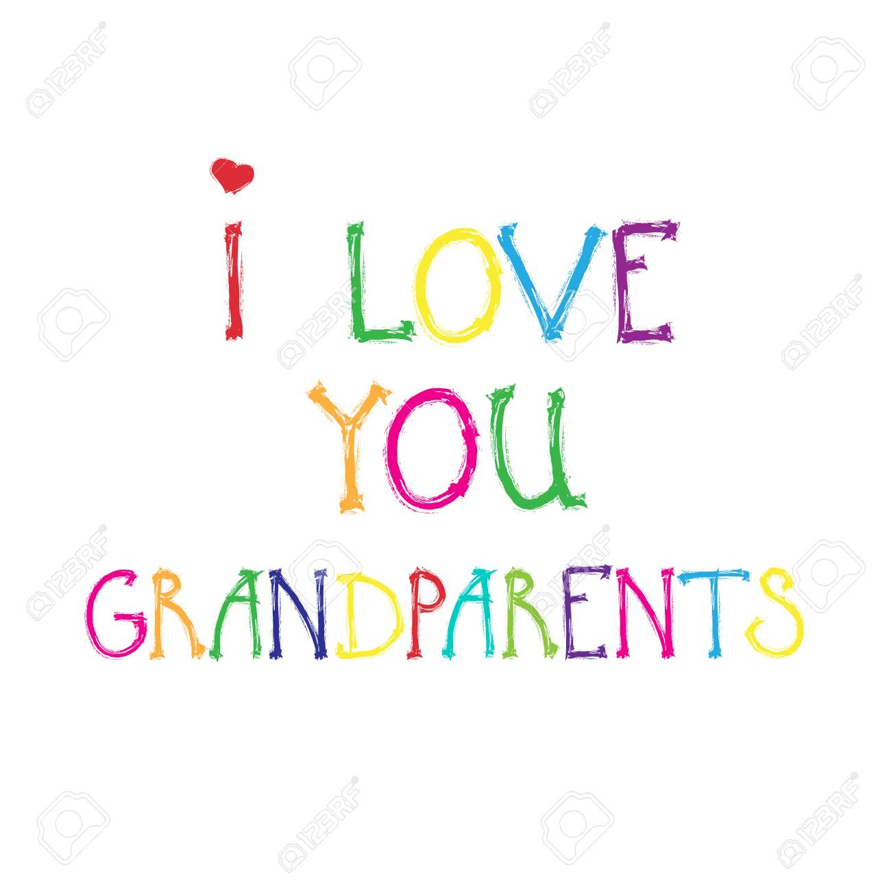 Happy Grandparents Day Greeting Card Banner Colorful Text Over
