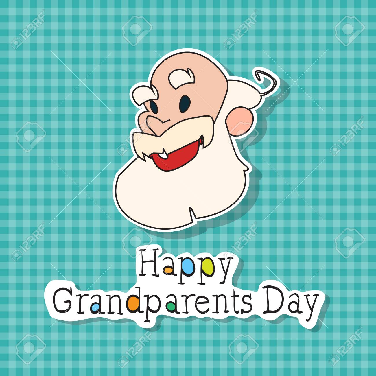 Happy grandparents day greeting card colorful banner pop art happy grandparents day greeting card colorful banner pop art style vector illustration stock vector 84059431 m4hsunfo