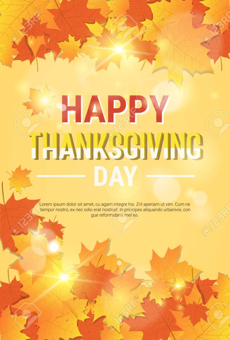Happy thanksgiving day autumn traditional holiday greeting card happy thanksgiving day autumn traditional holiday greeting card flat vector illustration stock vector 87616853 m4hsunfo