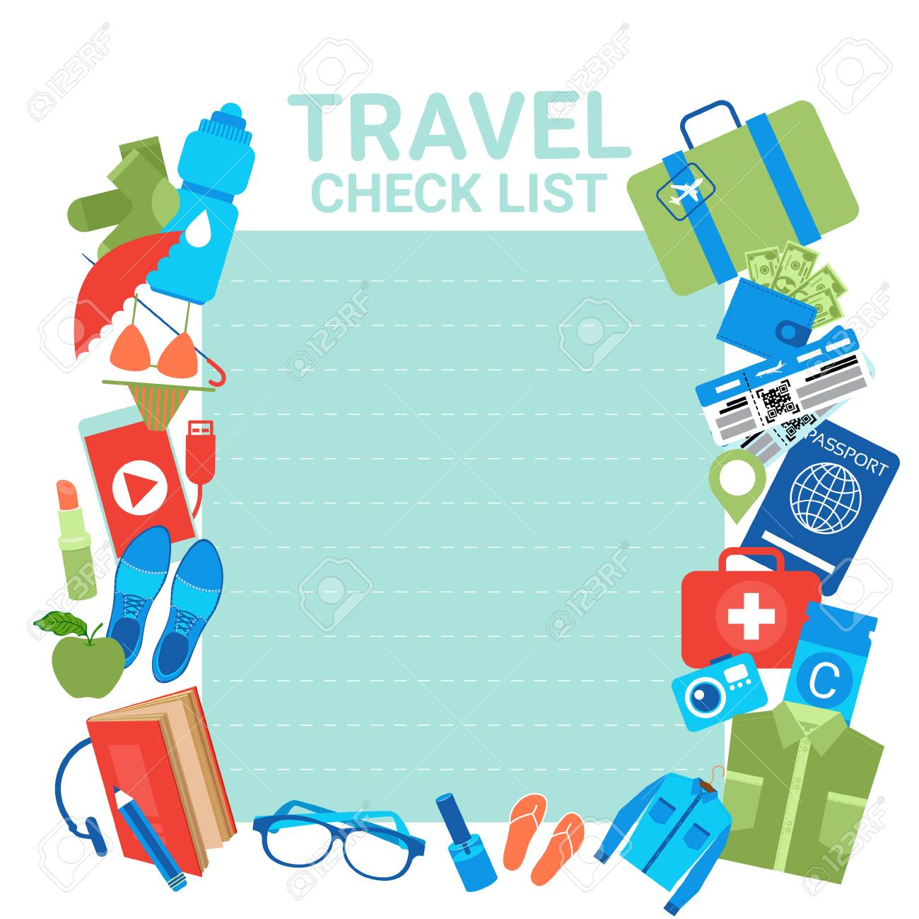 vacation travel check list