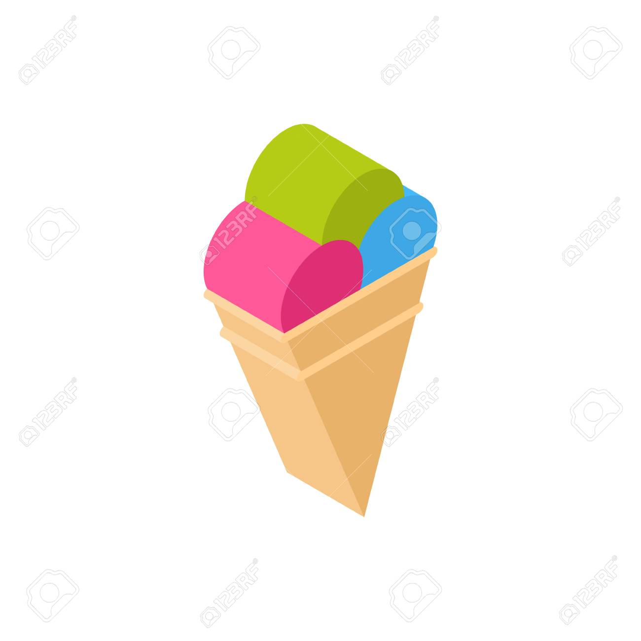 Ice Cream Cone Icon Isometric Isolated Tourism And Travel Concept Vector Illustration - 95662637