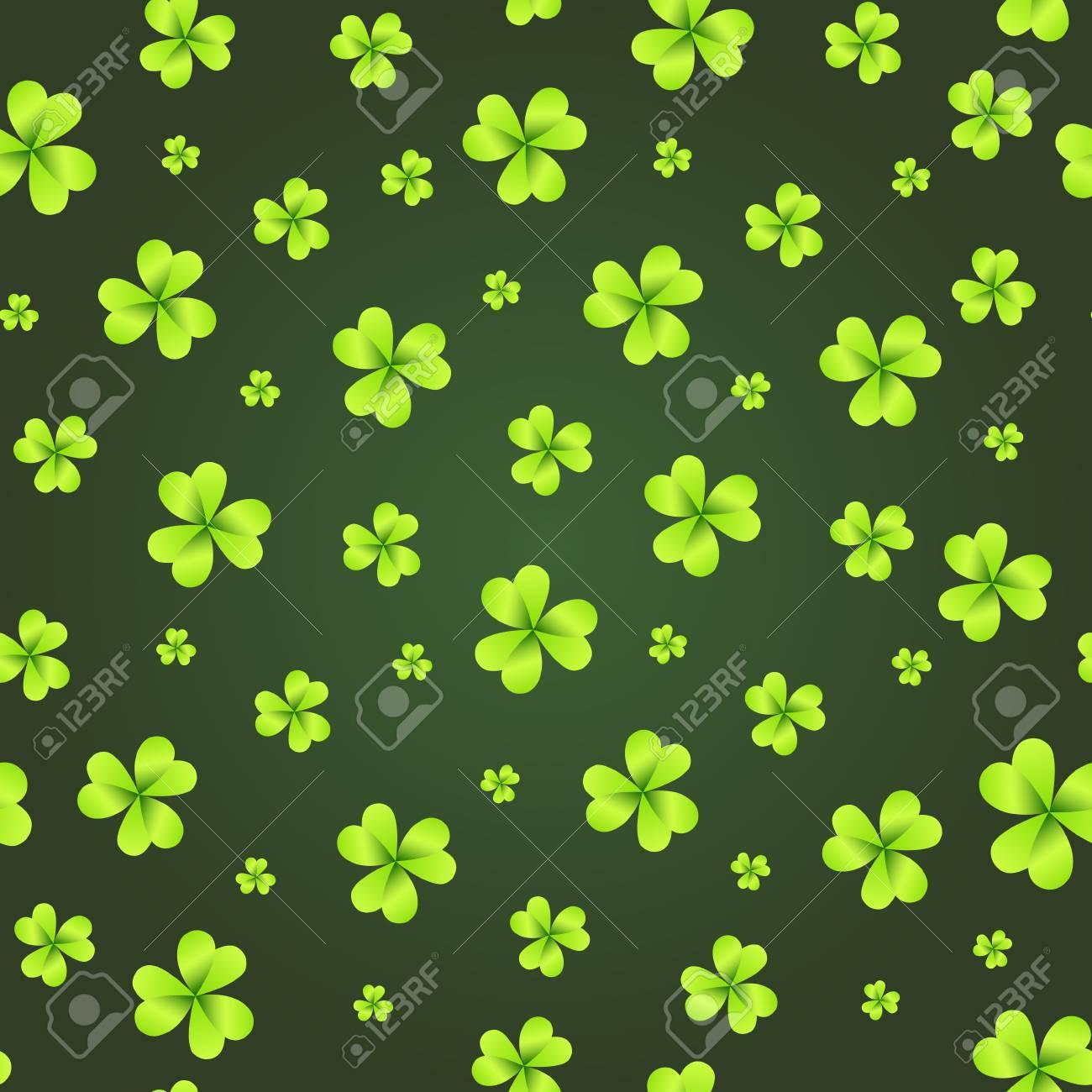Shamrock Background St Patricks Day Wallpaper Seamless Pattern