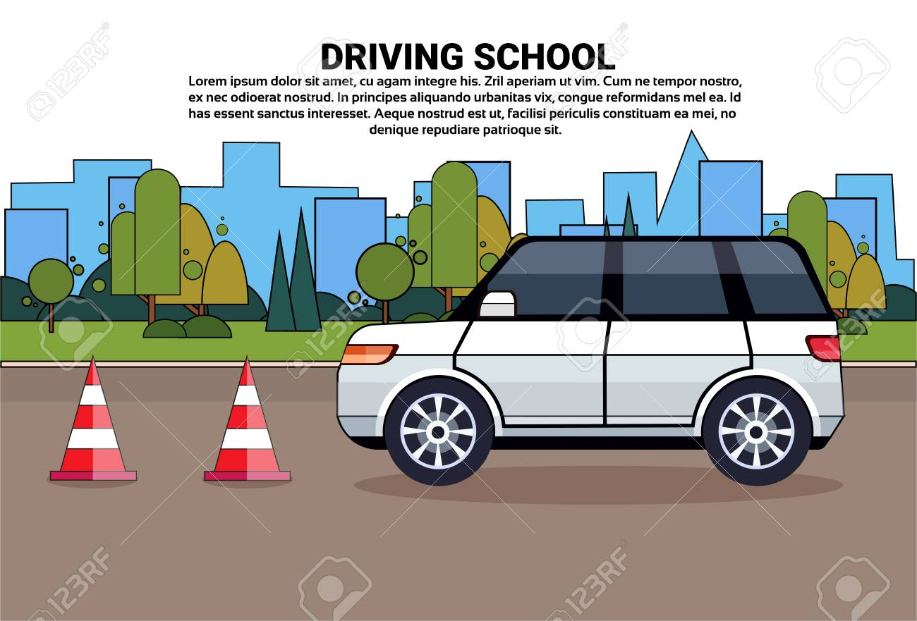 Car 99425735 Free Poster Stock Education School Driving And Auto Royalty Image Illustration On Cliparts Road Vectors Practice Drive