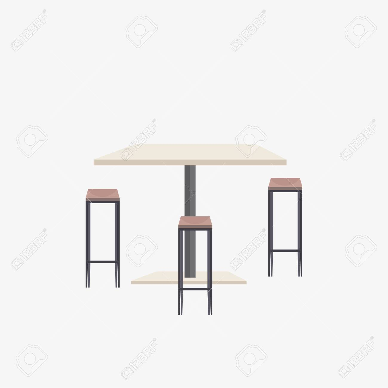 empty no people cafe table with chairs modern restaurant cafeteria..