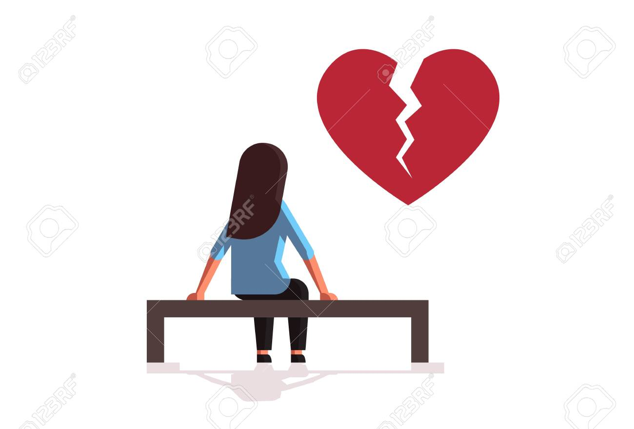 Unhappy Sad Woman In Depression Having Relationship Problem Life Royalty Free Cliparts Vectors And Stock Illustration Image 133451700
