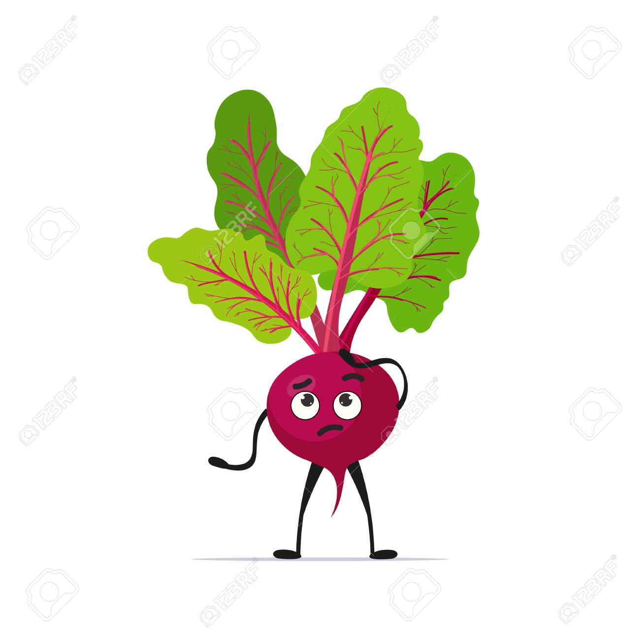 cute beet character cartoon mascot vegetable healthy food concept isolated vector illustration - 141697873
