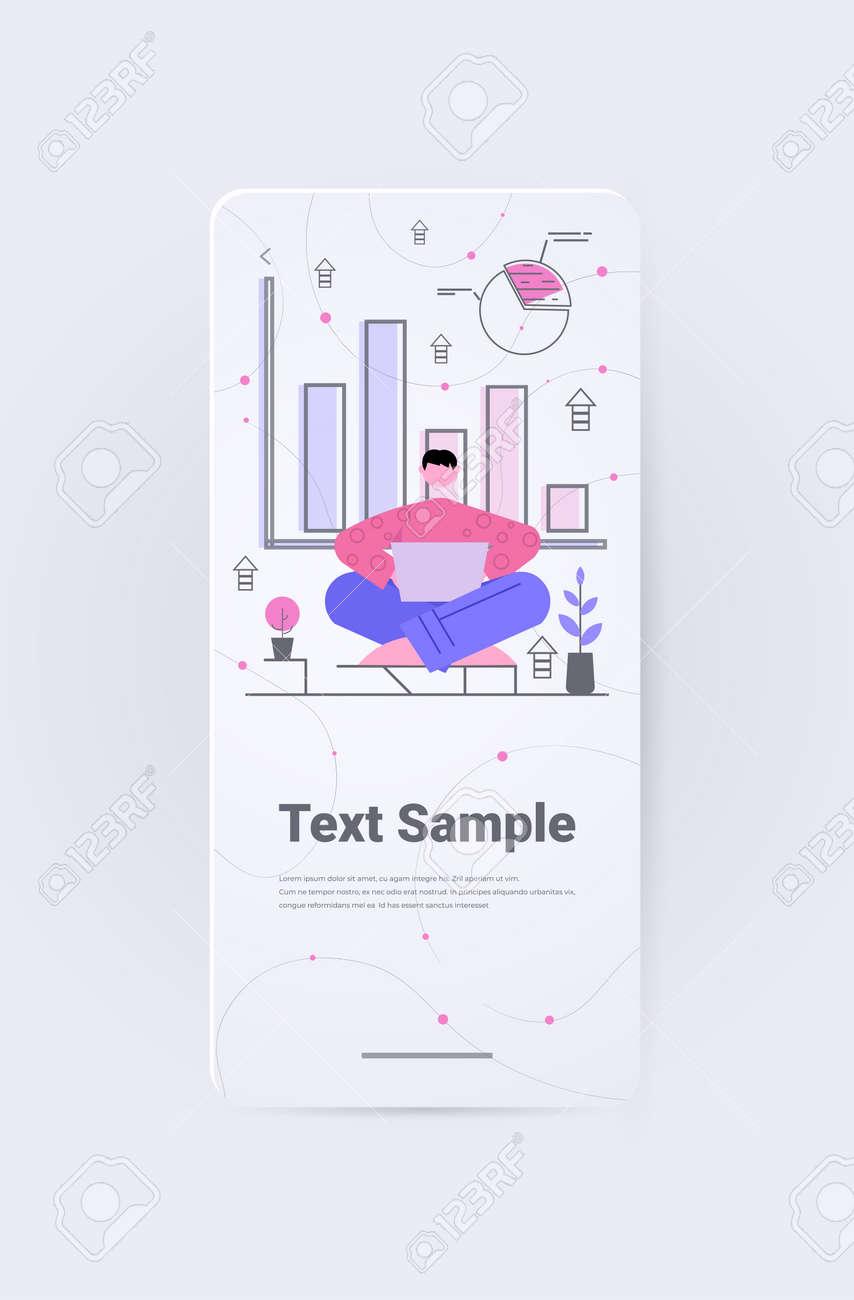businessman analyzing charts and graphs data analysis process digital marketing planning company strategy - 168677055