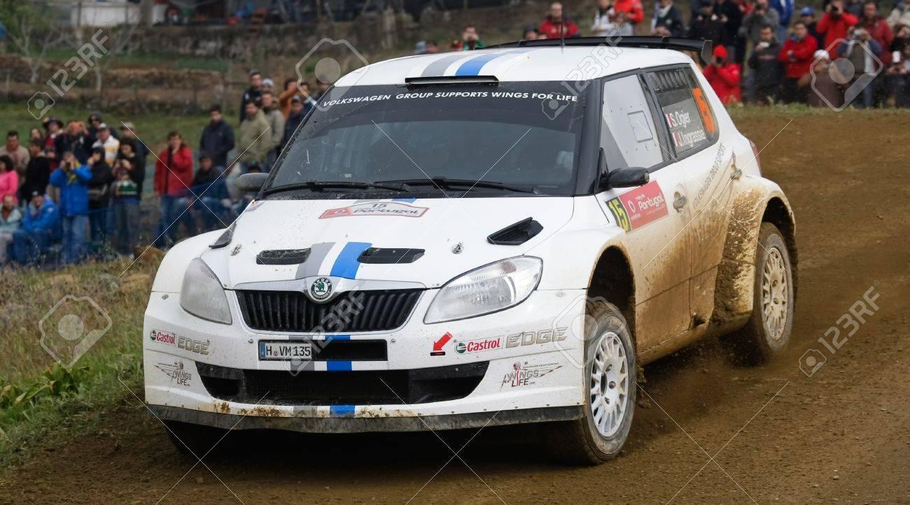ALGARVE, PORTUGAL - MARCH 31: Sebastien Ogier (FRA) Driving Is ...