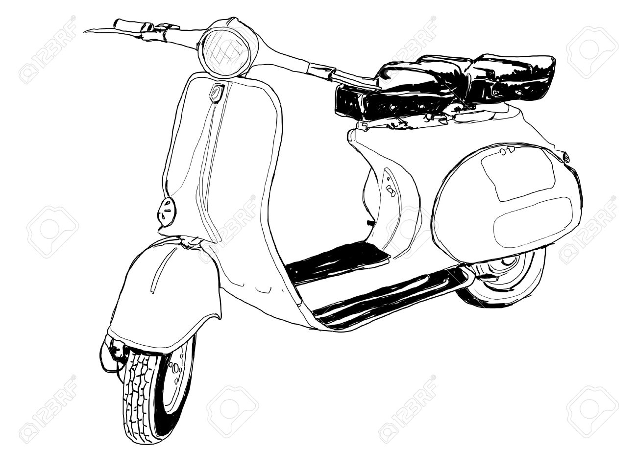 Vintage Vespa Art Stock Photo Picture And Royalty Free Image Image 13465503