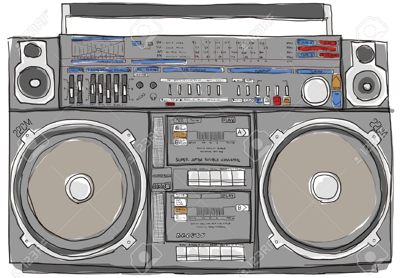 boombox stereo old school - 14196488