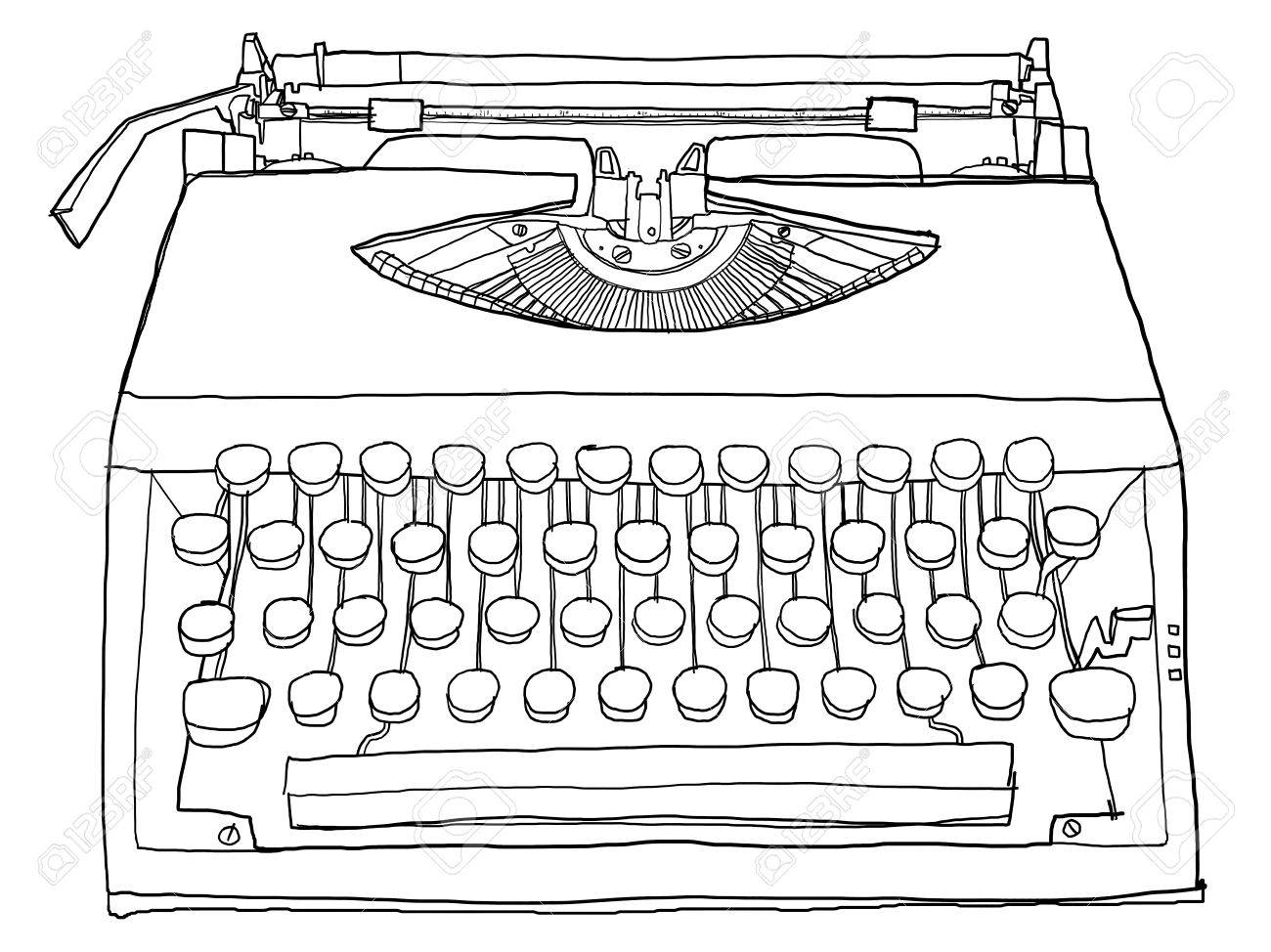 Typewriter old b w - 14981459