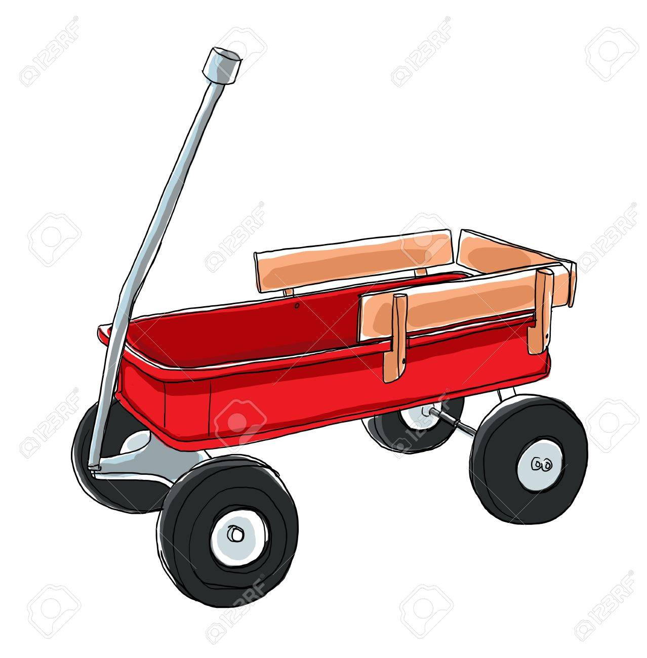 red wagon vintage toy - 19832535