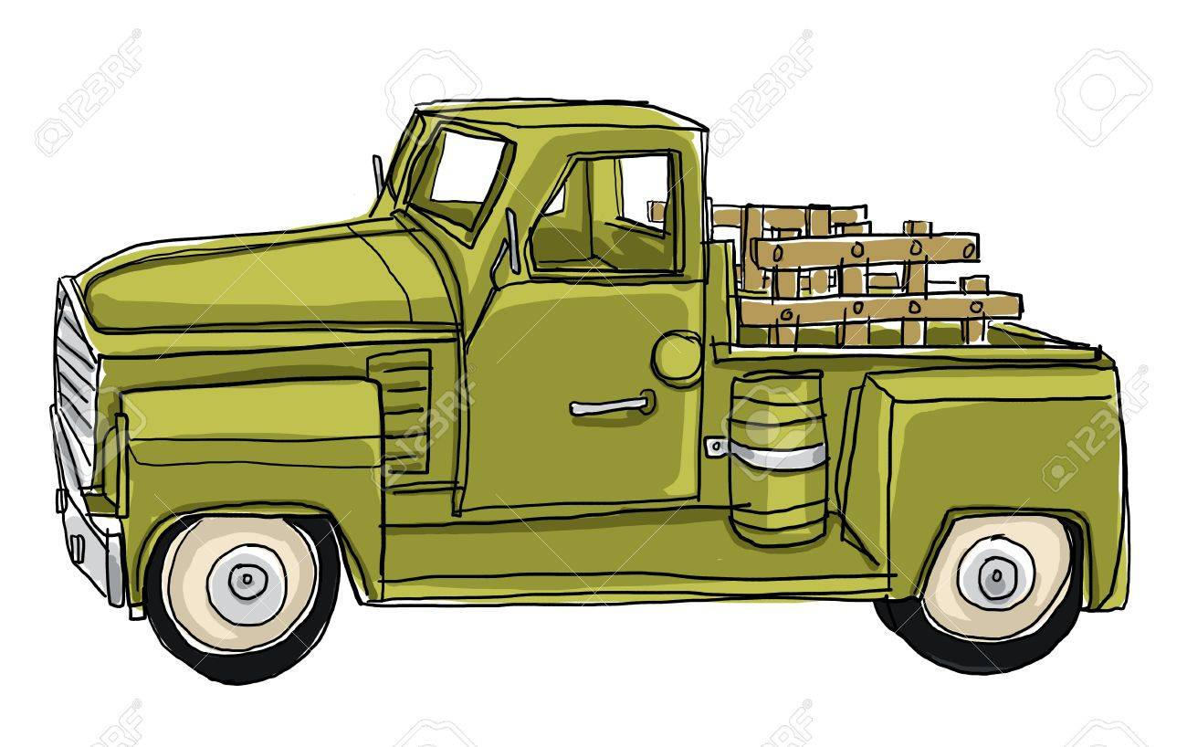 Camión De Verde Metálico Estaño Juguete Miniatura Coches Pickup En PnOk0w8