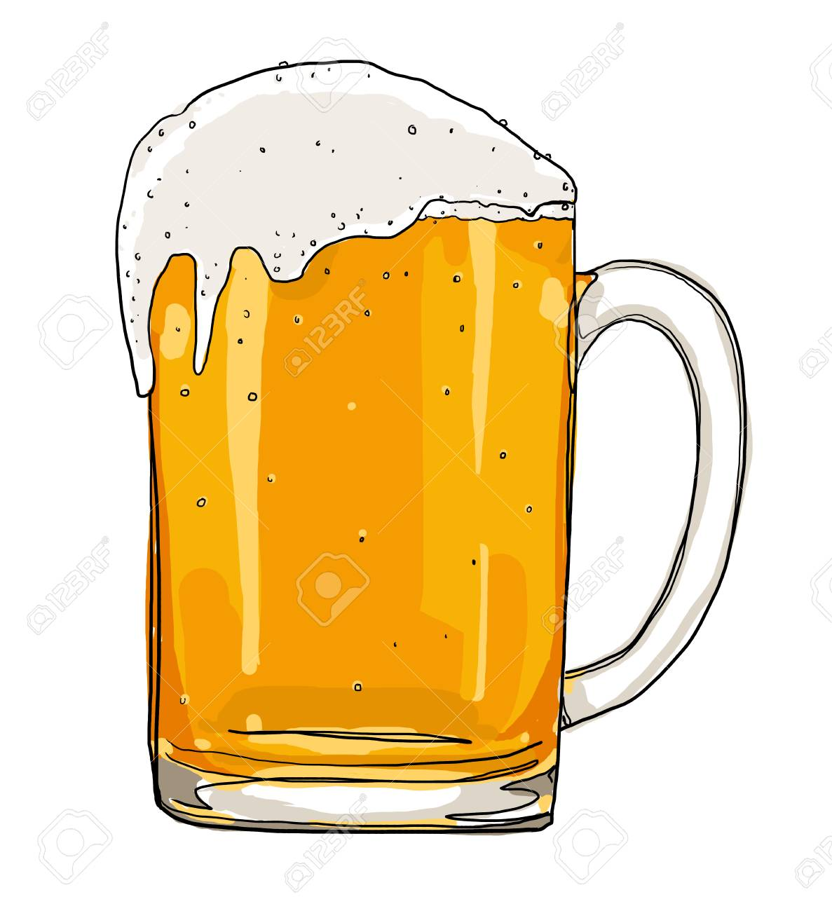 Frosty Glass Of Light Beer Painting Stock Photo Picture And Royalty Free Image Image 32044084