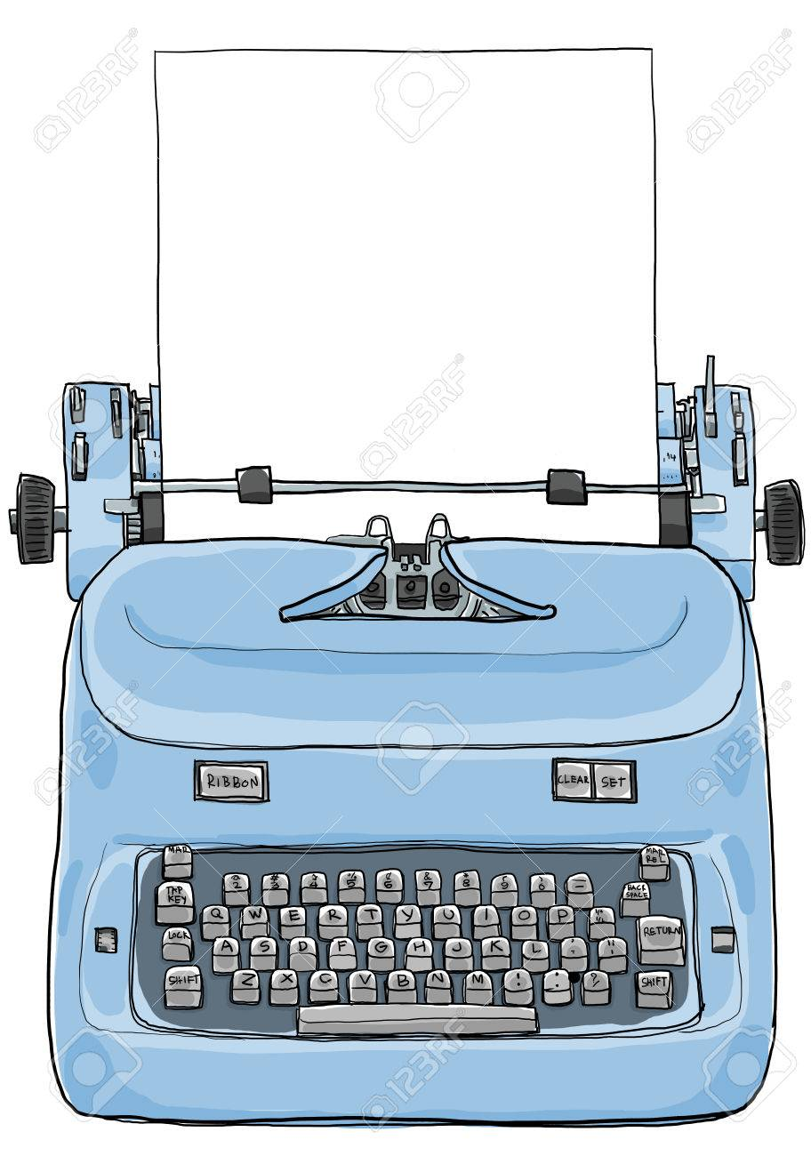 Electric vintage Typewriter with paper art painting - 33252867