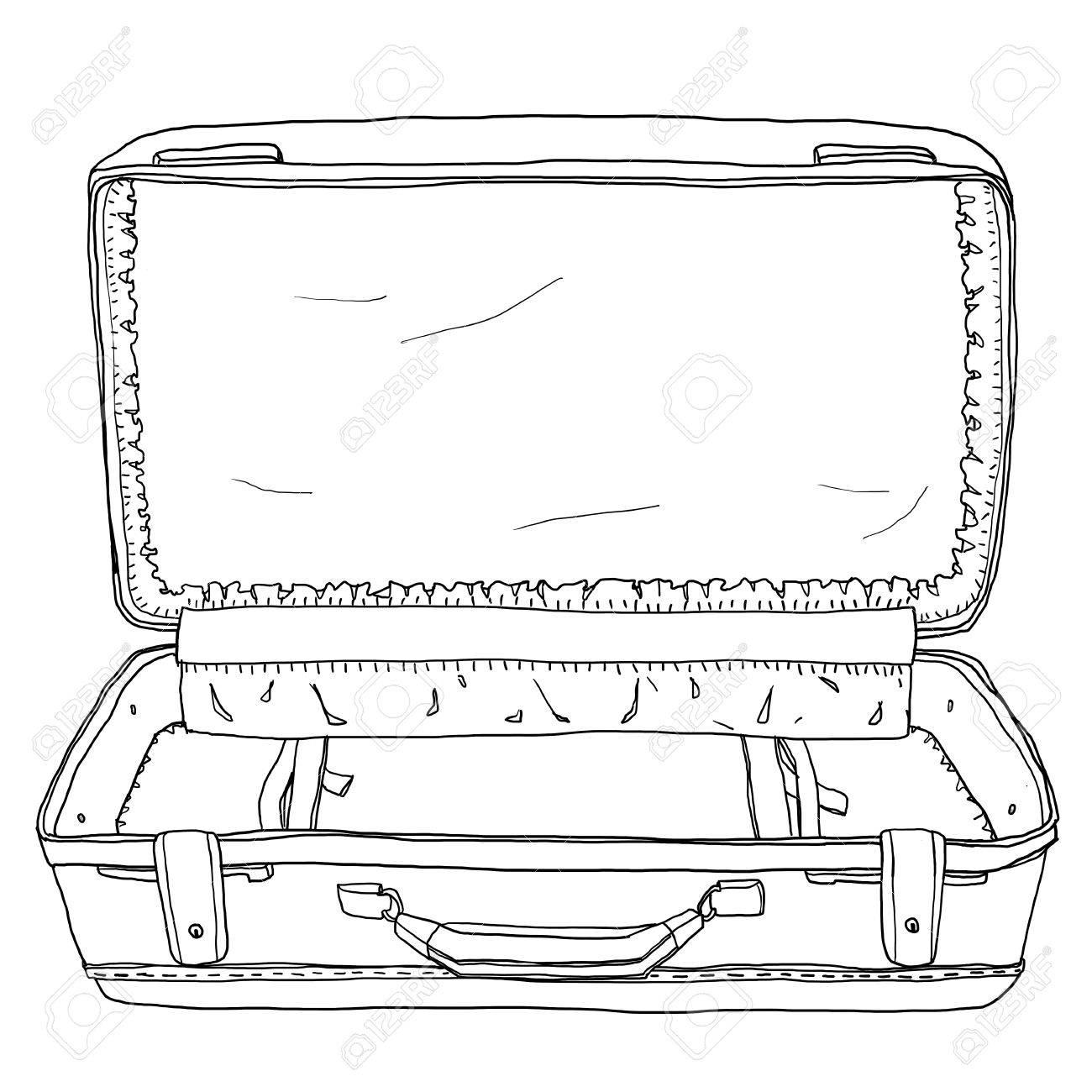 Immagini Stock Rosso Vintage Bagagli Valigie Aperta è Vuota