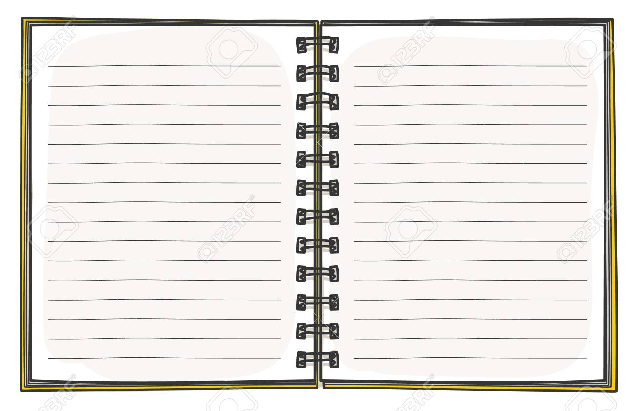 Great notepad design template images gallery realistic template realistic template line notepad blank cover design school business template notebook hand drawn diary business notepad notebook maxwellsz